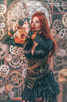 Steampunk girl by NarmeShade