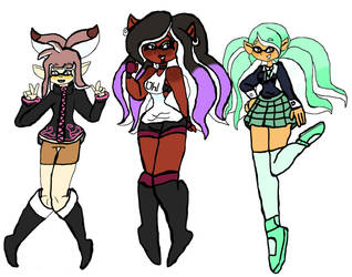 Inkling Trios by Taylorthedog1