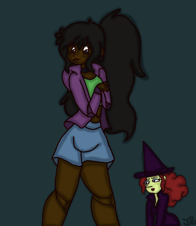 Gigi and Wicked the Witch by Taylorthedog1