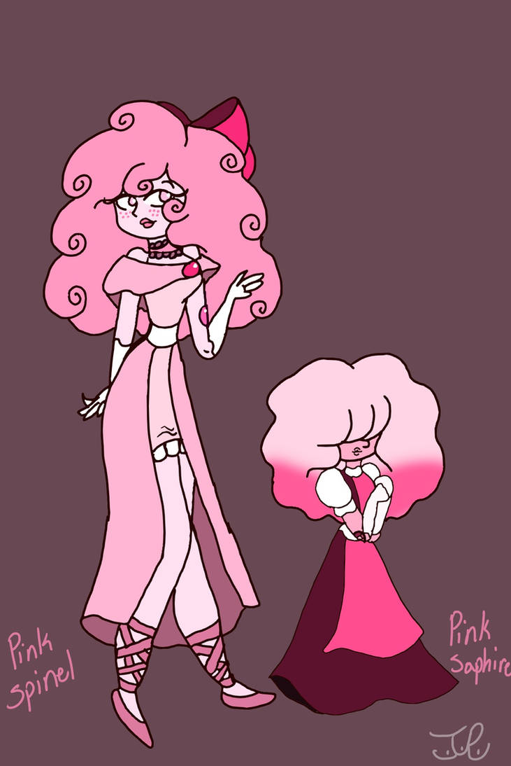 New look for Pink Spinel and My new Gem Oc by Taylorthedog1