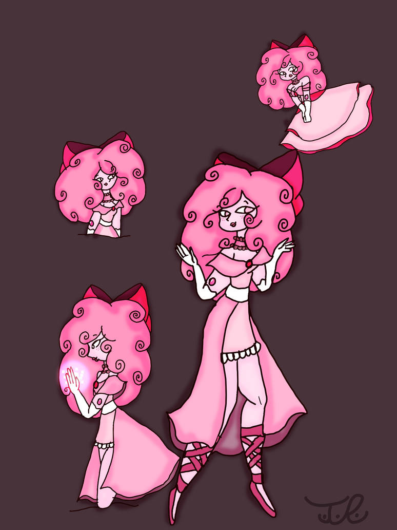 Pink Spinel poses by Taylorthedog1