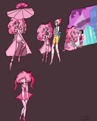 Pink Spinel poses 2 by Taylorthedog1