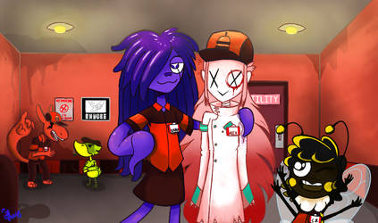 A Scene at the Galaxy Burger. by Blizzfan98