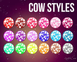 Cow Color Styles by LexiVonEerie