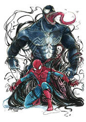 Inktober#2 Divided Spiderman by Ckirden