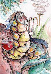 Smocking caterpillar by Ckirden