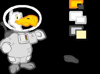 Gull - Moon by sepfeiffer