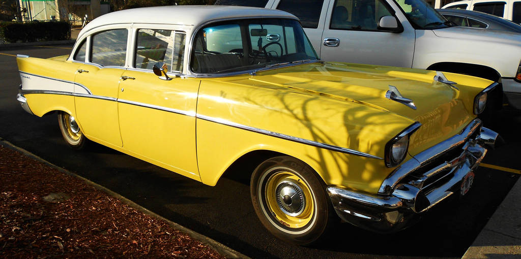 Yellow 57 Chevy Bel Air By Calypso1977 On Deviantart