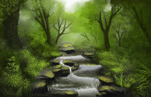 Forest Brook by BritneyPringle