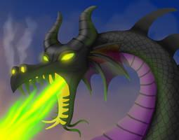 Maleficent Dragon by BritneyPringle
