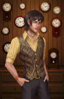 Ben the Clockmaker by BritneyPringle