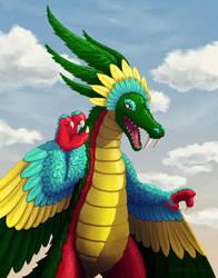 Art Trade: Plumed Serpent by BritneyPringle