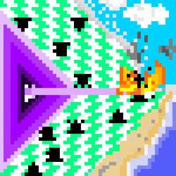 Chess Pieces Vs Purple Laser Gun by Rustyn