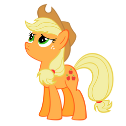 Upset Applejack Vector by 30ColoredOwl