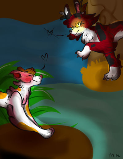 my two fave warrior cats  mapleshade and  brighthe by MonsterArts4000