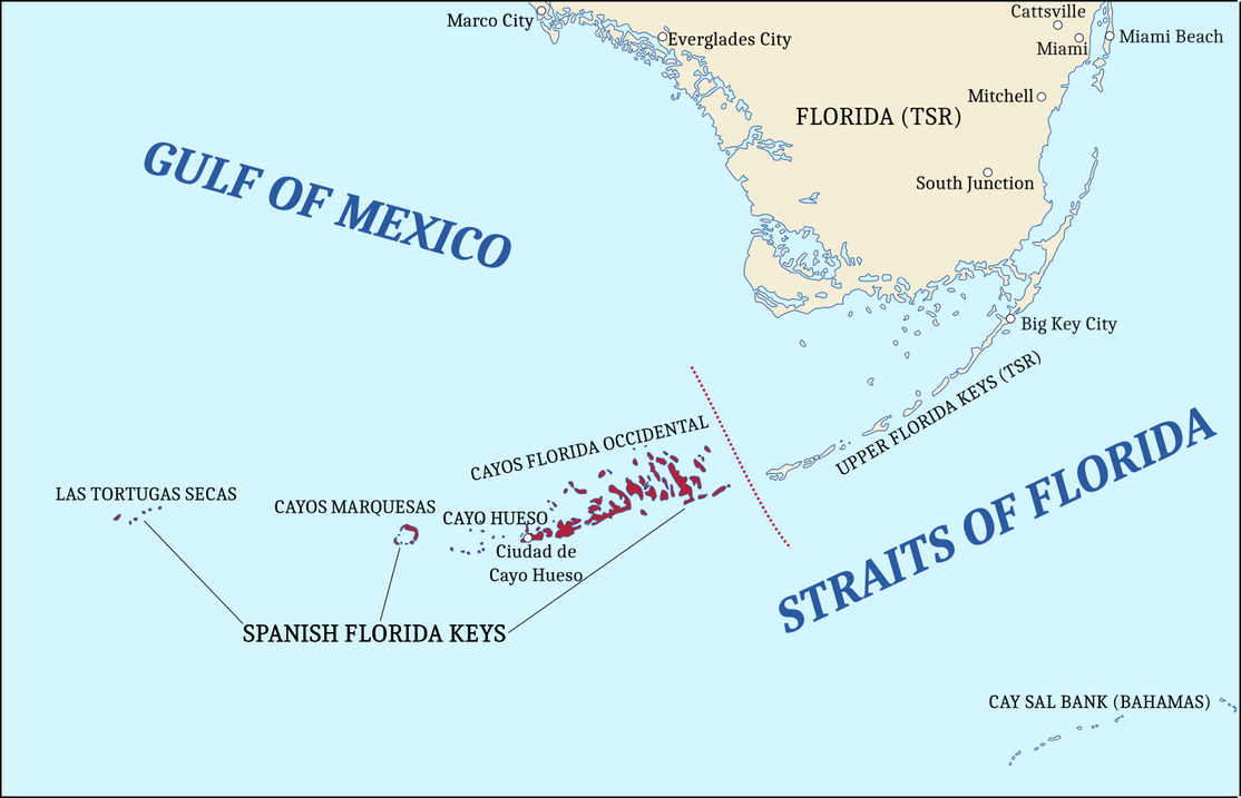 Los Cayos Florida Map.Spanish Florida Keys By Federalrepublic On Deviantart