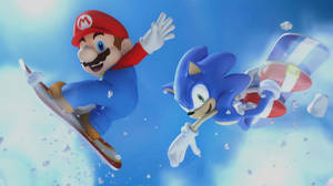 Mario And Sonic Wallpaper by sonicxrules219