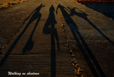 Walking on shadows by Pink-label