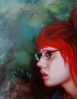 Red Hair and Glasses by STiX2000