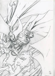 Spawn Cover Drawing by PanthersGhost