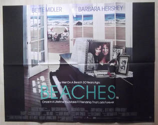 Beaches (1988) Original UK Quad by EspioArtwork
