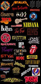 Classic Rock Revolution Logos Stocking Stride by EspioArtwork
