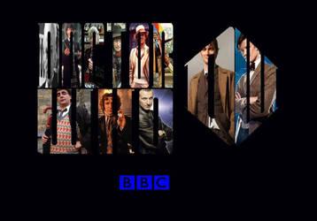 Doctor Who - Eleven Doctors Fulfill Logo Wallpaper by EspioArtwork