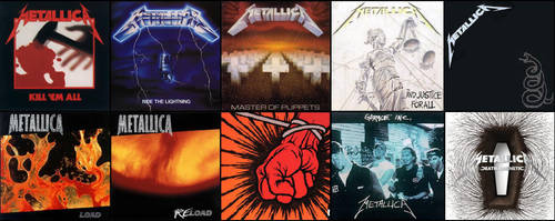Metallica 10 Albums Wallpaper JPEG by EspioArtwork