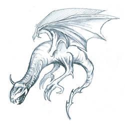 Dragon sketch by yeraymuaddib