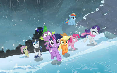 Widescreen of Crystal Empire Wallpaper (Not mine!) by sdknex