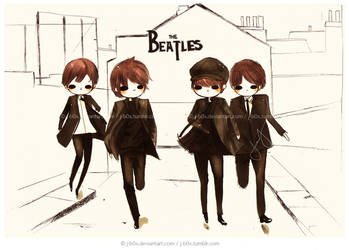 Commission: The beatles by j-b0x