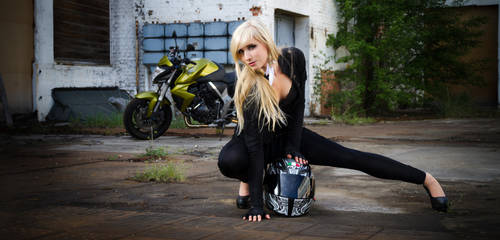 Biker Girl - CB1000R by KaylaDavion