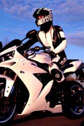 Yamaha R1 - Girl on Bike by KaylaDavion