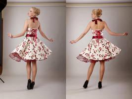 Cherry Pin Up - Back by KaylaDavion