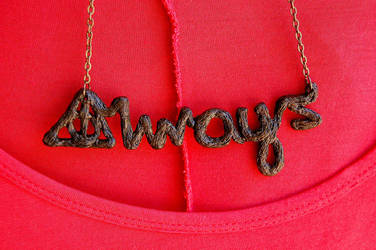 Always - Harry Potter Inspired Necklace by badhairday24