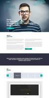 John Doe - Free One Page PSD by leoaw