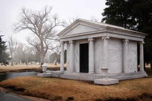 Foggy Mausoleum by Stock-by-Kai