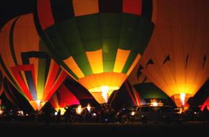 Balloon Fiesta 08 - night by Stock-by-Kai