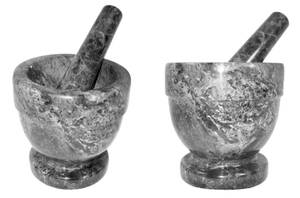 Grey Marble Mortar and Pestle by Stock-by-Kai