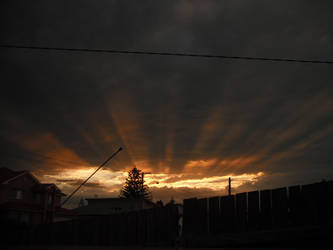 Beams of light on sunset by davyboy90