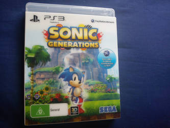 Sonic Generations PS3 Hologram classic Sonic by davyboy90