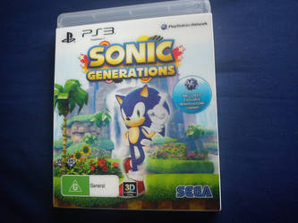 Sonic Generations PS3 Hologram modern Sonic by davyboy90