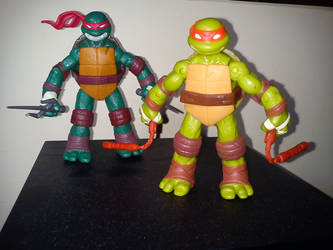 Raphael and Michelangelo by davyboy90
