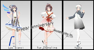[Happy 5-year Anniversary] TDA China doll ModelDL by NekoLovi-chan