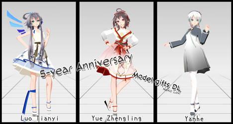 [Happy 5-year Anniversary] TDA China doll ModelDL by NekoLovi-chan