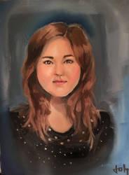 Portrait of my Girlfriend by j--o--h
