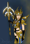 Protoss Wizard - Colored Version by Dinoforce
