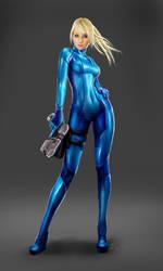 Metroid Samus Aran - Zero-Suit by Dinoforce