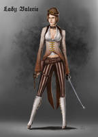 Lady Valerie Character Concept Design by Dinoforce