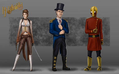 Hildesia Character Designs by Dinoforce